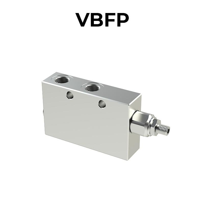 Valvola di bilanciamento singola per centro aperto con sblocco freno VBFP