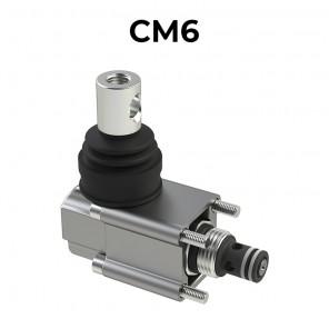 CM6 valvola direzionale 2/2 SAE8 diretta a doppia tenuta, comando manuale