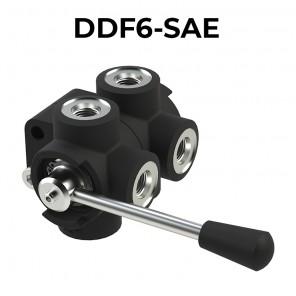 DDF6-SAE deviatori di flusso a 6 vie filettatura GAS