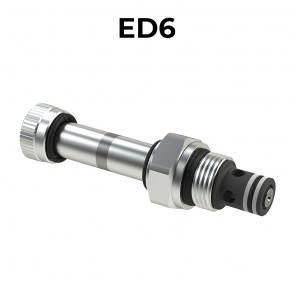 Valvole elettrica a cartuccia 2/2 diretta SAE8 a doppia tenuta, ED6