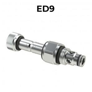 Valvole elettrica a cartuccia 2/2 pilotata bidirezionale a doppia tenuta SAE8, ED9
