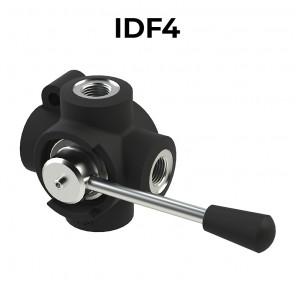 Deviatori di flusso oleodinamici a 4 vie IDF4-BSPP