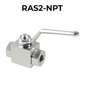 Valvole a sfera a 2 vie/2 posizioni RAS2-NPT