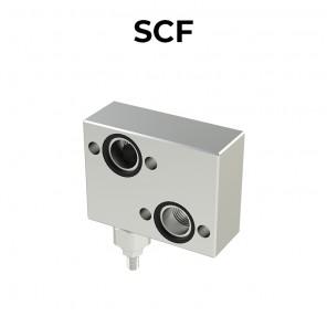 Valvola antiurto singola flangiata per motore orbitale SCF