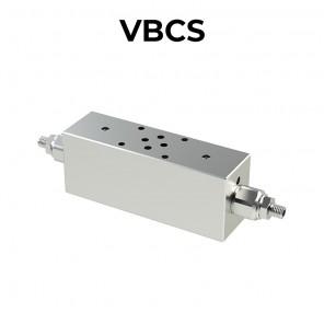 Valvola di bilanciamento doppia flangiata Cetop per Centro aperto VBCS