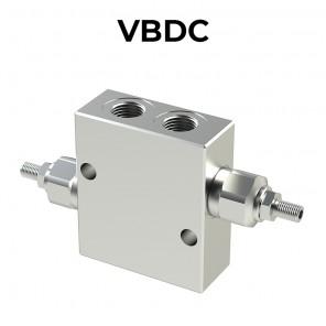 Valvole antiurto doppie incrociate in linea VBDC