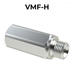 Valvole unidirezionali a colonnetta Maschio/femmina con foro di strozzatura VMF-H