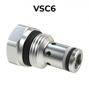 Valvole di controllo discesa compensate a taratura fissa VSC6
