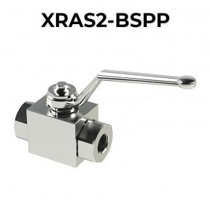 Valvole a sfera in acciaio inossidabile a 2 vie/2 posizioni XRAS2-BSPP