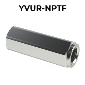 Valvole unidirezionali a colonnetta femmina/femmina YVUR-NPTF (filettatura NPTF) con corpo in INOX 316L