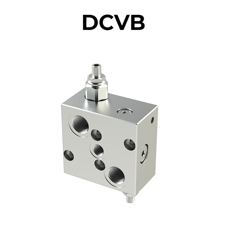 Valvola di bilanciamento doppia per centro aperto con sblocco freno DCVB