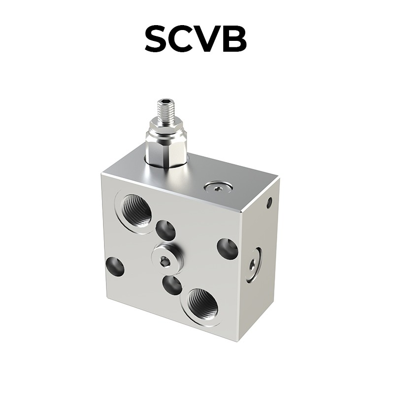 Single counterbalance valve for open center with SCVB