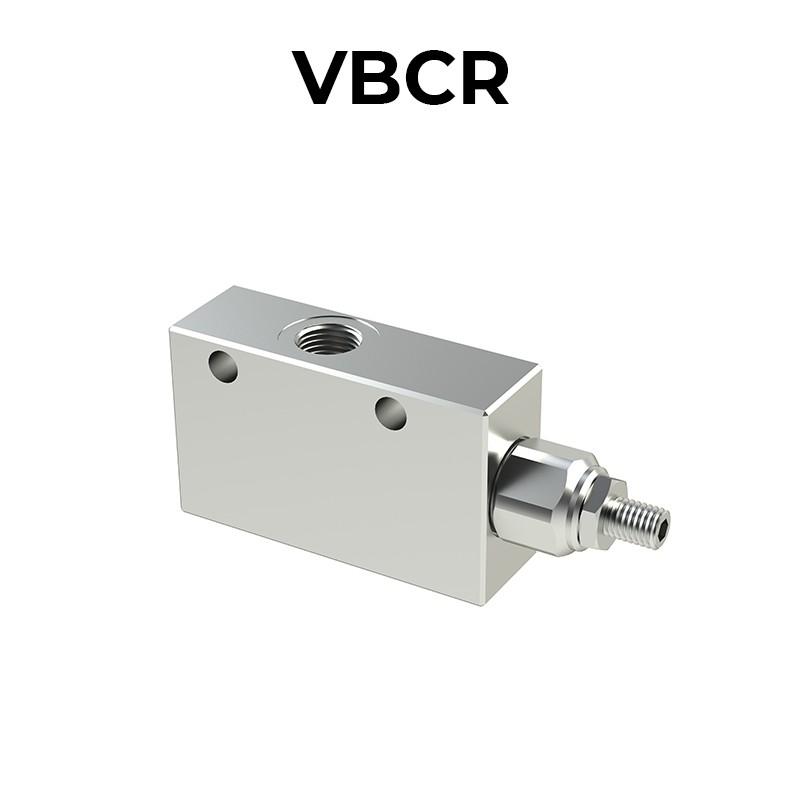 Single counterbalance valve for open center VBCR
