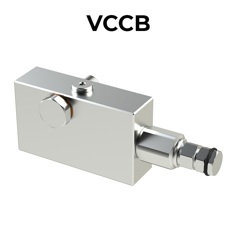 Single counterbalance valve for closed center VCCB