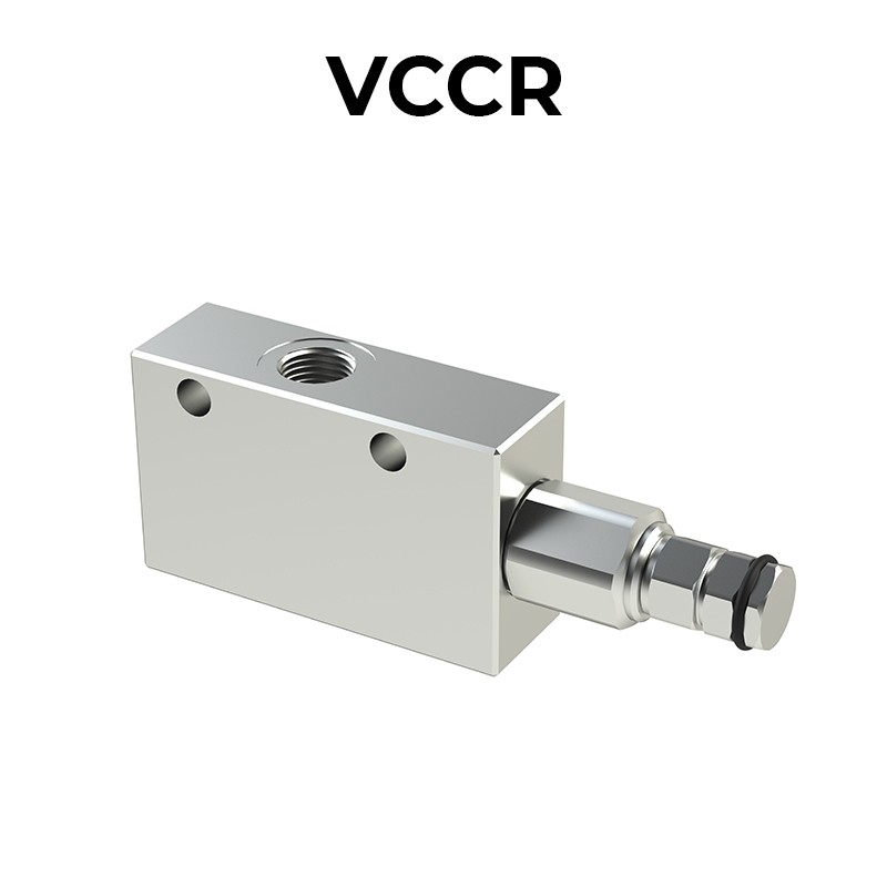 Single counterbalance valve for closed center VCCR