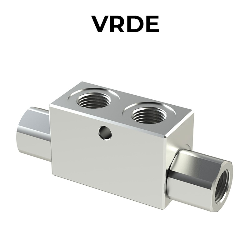 Double acting pilot check valves VRDE