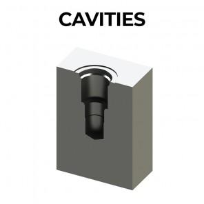 SAE standard cavities; Oleoweb special cavities