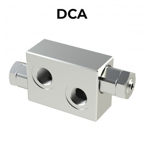 DCA double cross line direct acting relief valve