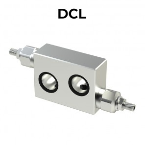 DCL flanged double cross line direct acting relief valves