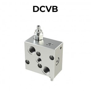 Double counterbalance valve for open center with brake un-locking DCVB