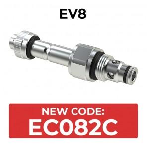 EC082C Cartridge electric valve 2/2 pilot acting bidirectional SAE8