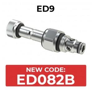 ED082B Cartridge electric valve 2/2 pilot acting bidirectional double sealed SAE8
