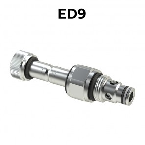 ED9 Cartridge electric valve 2/2 pilot acting bidirectional double sealed SAE8