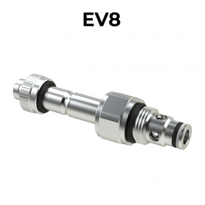 EV8 Cartridge electric valve 2/2 pilot acting bidirectional SAE8