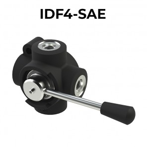 IDF4-SAE, 4 ways flow diverters – SAE (UNF) threads