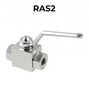 RAS2-BSPP Ball valves 2 ways/2 positions GAS threads