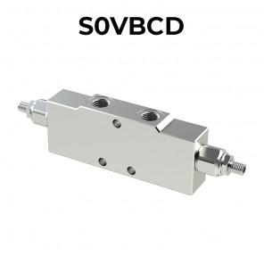 Double overcenter valve for open center S0VBCD