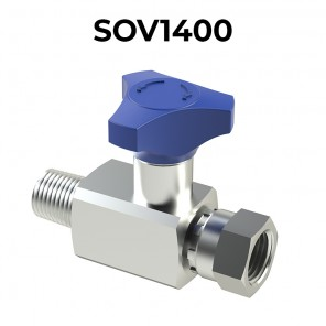 SOV1400 IN-LINE PRESSURE GAUGE SHUT-OFF VALVES