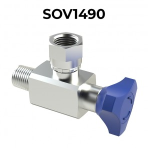 SOV1490 90° PRESSURE GAUGE SHUT-OFF VALVES