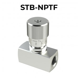 STB-NPTF flow control valves