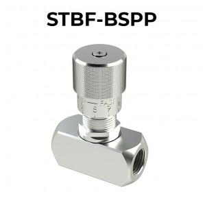 STBF-BSP Bidirectional flow control valves with knob