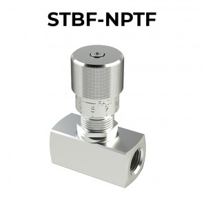 STBF-NPTF BIDIRECTIONAL FLOW CONTROL VALVES WITH KNOB