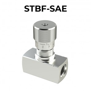 STBF-SAE Bidirectional flow control valves with knob