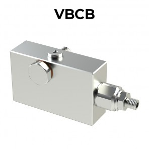 Single counterbalance valve for open center VBCB