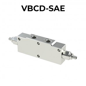 Double overcenter valve for open center VBCD-SAE