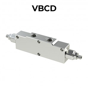 Double overcenter valve for open center VBCD
