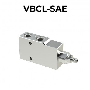 Single counterbalance valve for open center VBCL-SAE