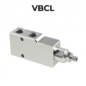 Single counterbalance valve for open center VBCL