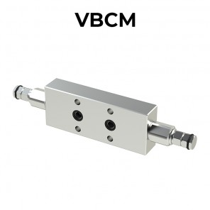 Double counterbalance valve flanged for closed center VBCM