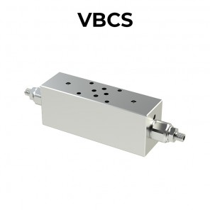 Double counterbalance valve flanged Cetop for open center VBCS