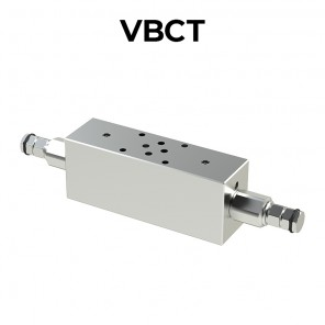 Double counterbalance valve flanged Cetop 3 for closed center VBCT
