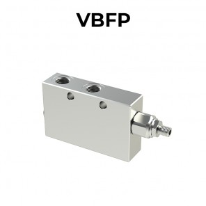 Single counterbalance valve for open center with brake un-locking VBFP