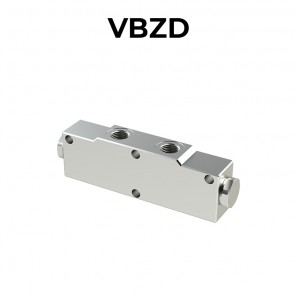 Single counterbalance valve in-line for open center VBZD