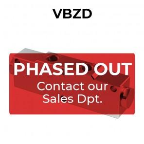 Double counterbalance valve in-line for open center VBZD