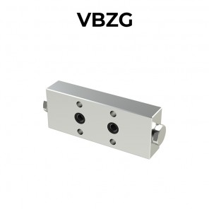Single counterbalance valve in-line for open center VBZG