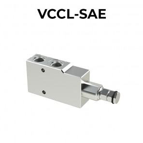 Single counterbalance valve for closed center VCCL-SAE